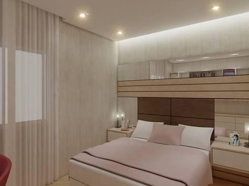 Apartamento FL: Quartos  por Merlincon Prestes Arquitetura