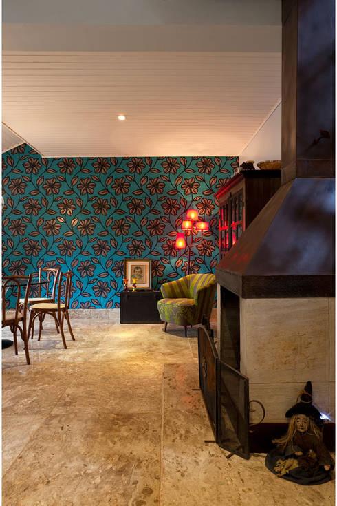 Salas de estilo rústico por MMMundim Arquitetura e Interiores