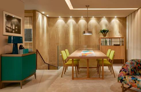 Decora Líder Brasília – Apartamento Urbano: Salas de jantar modernas por Lider Interiores