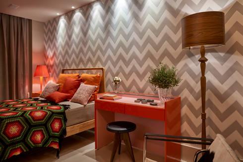 Decora Líder Brasília – Apartamento Urbano: Salas de estar modernas por Lider Interiores