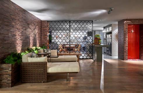 Decora Líder Brasília - Loft Soho: Salas de estar modernas por Lider Interiores