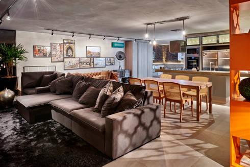 Decora Líder Brasília – Loft Soho: Salas de estar modernas por Lider Interiores