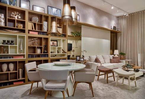 Decora Líder Belo Horizonte - Living do Seu João: Salas de jantar modernas por Lider Interiores