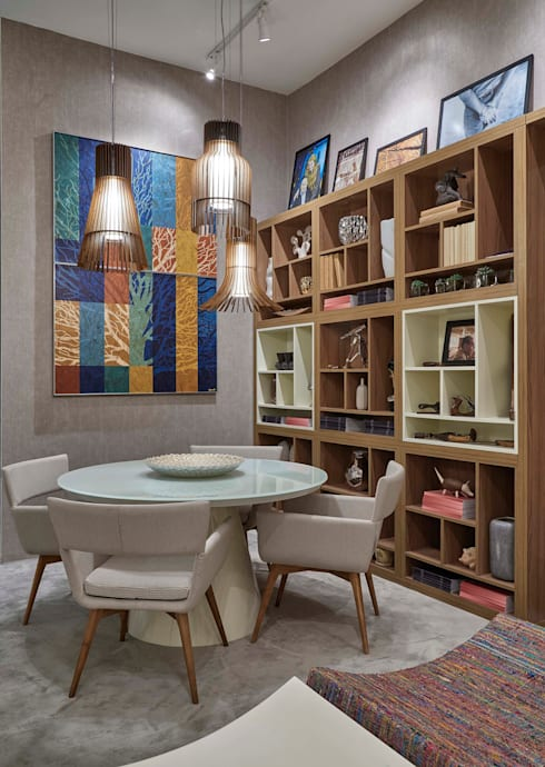 Decora Líder Belo Horizonte – Living do Seu João: Salas de jantar modernas por Lider Interiores