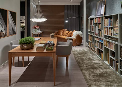 Decora Líder Belo Horizonte - Home Office: Salas de estar modernas por Lider Interiores