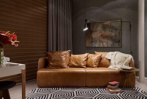 Decora Líder Belo Horizonte – Home Office: Salas de estar modernas por Lider Interiores