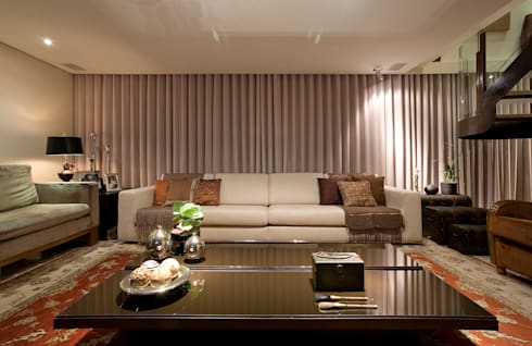 Apartamento AD: Salas de estar modernas por Isabela Canaan Arquitetos e Associados