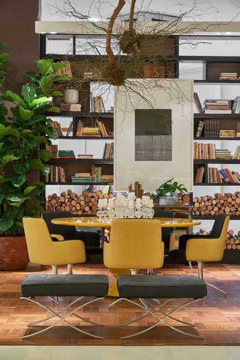 Projekty,  Jadalnia zaprojektowane przez Lider Interiores