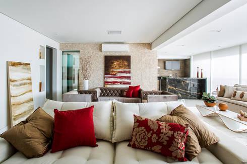 APARTAMENTO ALTO PADRÃO: Salas de estar modernas por RB ARCHDESIGN