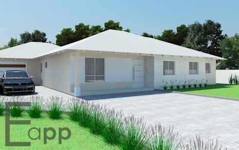 Casa de Campo em Garuva: Casas modernas por Estúdio Criativo Arquitetura e Interiores