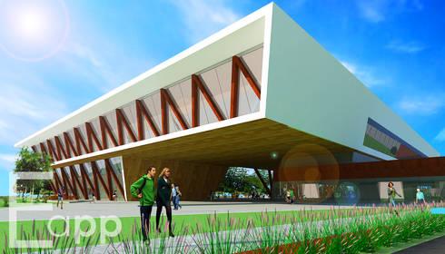 Centro Cultural de Joinville (Trabalho Acadêmico) : Centros de exposições  por Estúdio Criativo Arquitetura e Interiores