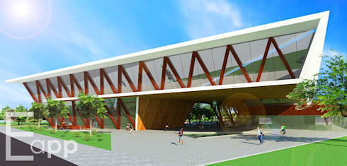 Centro Cultural de Joinville (Trabalho Acadêmico) : Espaços comerciais  por Estúdio Criativo Arquitetura e Interiores