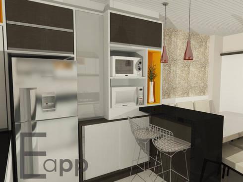 Cozinha: Cozinha  por Estúdio Criativo Arquitetura e Interiores