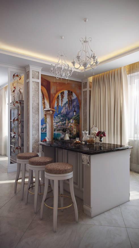 Четырехкомнатная квартира в классическом стиле: Кухни в . Автор – Details, design studio