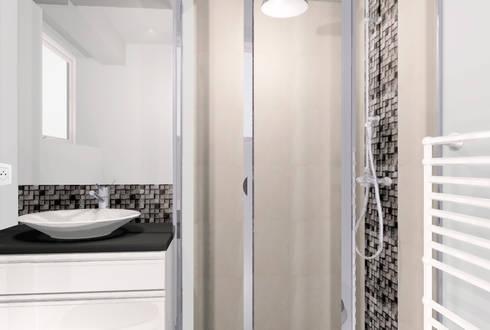 cr ation d 39 une buanderie et d 39 une salle d 39 eau dans un garage par revel 39 home homify. Black Bedroom Furniture Sets. Home Design Ideas