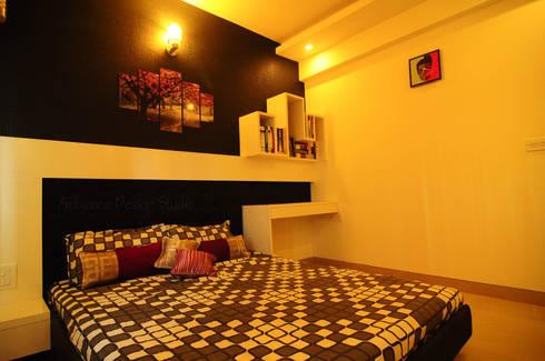 Mr Siddhart Shandilya: minimalistic Bedroom by Ambiance Design Studio