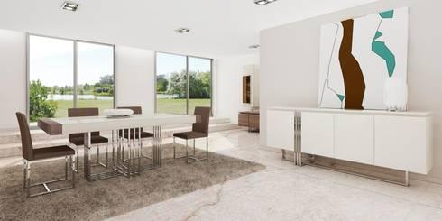 Mobiliário de sala de jantar: Sala de jantar  por Intense mobiliário e interiores;