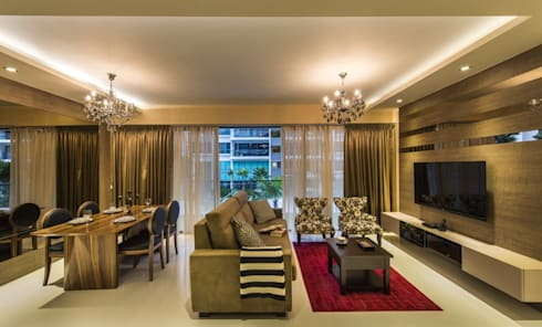 LIVING ROOM: asian Living room by decormyplace.com