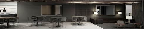 Edifício  de estúdios residencias:   por ARQdonini Arquitetos Associados