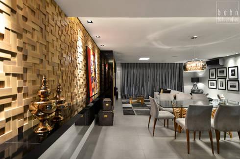 Apartamento EL: Salas de jantar modernas por Tamara Rodriguez Aquitetura
