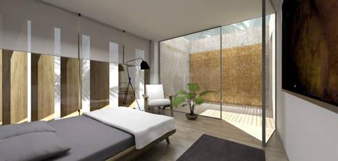 Casa no Mussulo: Quartos minimalistas por Gustavo Guimarães