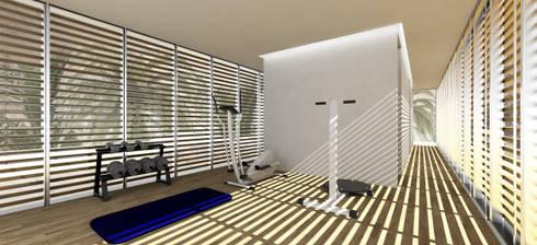 Casa no Mussulo: Ginásios minimalistas por Gustavo Guimarães