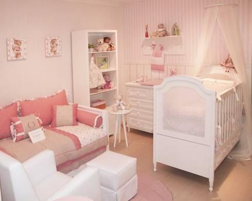 Quarto de bebê completo decorado - linha Classic: Quarto de crianças  por INTERCASA MÓVEIS INFANTIS E JUVENIS