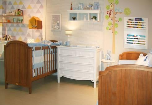 Quarto de bebê completo decorado - linha Madeira Maçica: Quarto de crianças  por INTERCASA MÓVEIS INFANTIS E JUVENIS