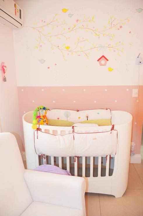 Quarto de bebê completo decorado - Paula, Bruno e Maria Clara: Quarto de crianças  por INTERCASA MÓVEIS INFANTIS E JUVENIS