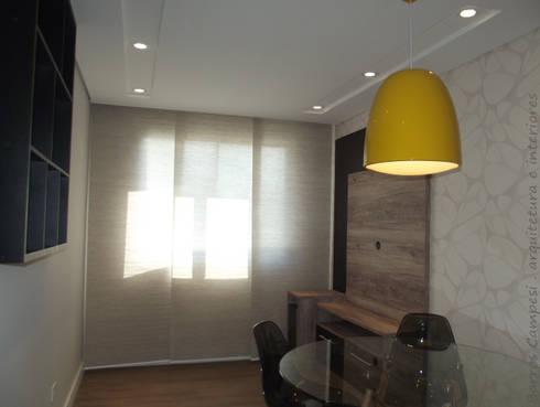 Sala de Estar e Jantar - apartamento de 45 m²: Salas de estar modernas por Barros Campesi Arquitetura