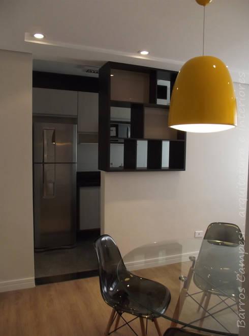 Sala de Estar e Jantar - apartamento de 45 m² : Salas de estar modernas por Barros Campesi Arquitetura