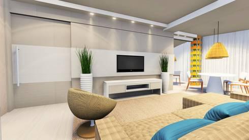 Família Bastos: Sala de estar  por larissa canziani