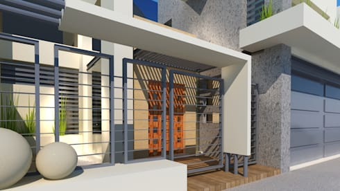 Valle Anahuac: Casas de estilo moderno por CouturierStudio
