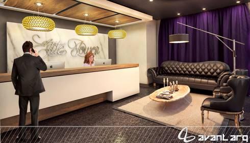 AVANT ARQ: Pasillos y recibidores de estilo  por AVANT ARQ