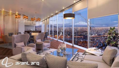 AVANT ARQ: Salas de estilo moderno por AVANT ARQ