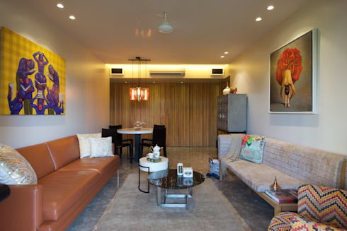 AA Apartment: modern Living room by Atelier Design N Domain