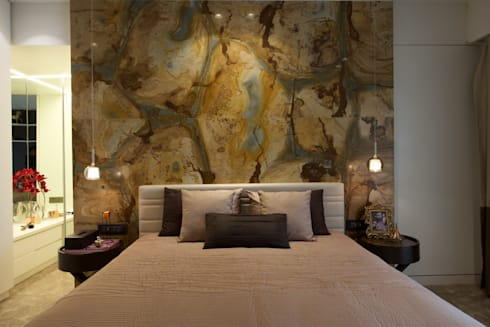 AA Apartment: modern Bedroom by Atelier Design N Domain