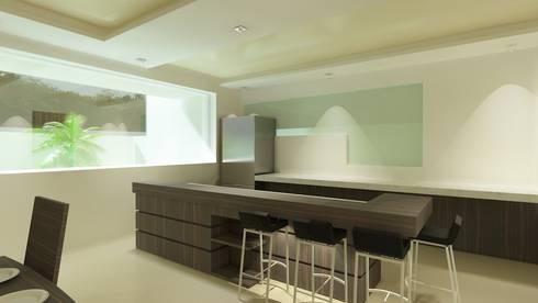 Reserva de las Animas: Cocinas de estilo moderno por CouturierStudio
