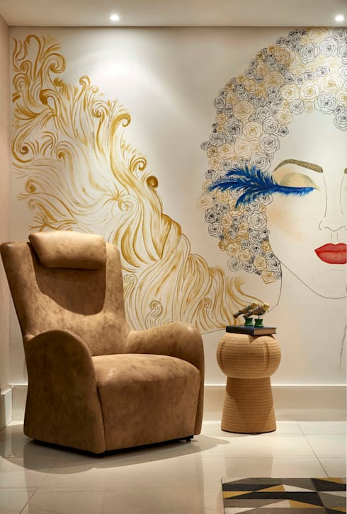 Decora Lider Rio de Janeiro - Sala de Jantar: Salas de estar modernas por Lider Interiores