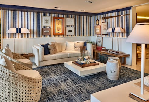Decora Lider Rio de Janeiro - Living e Jantar na Praia: Salas de estar modernas por Lider Interiores