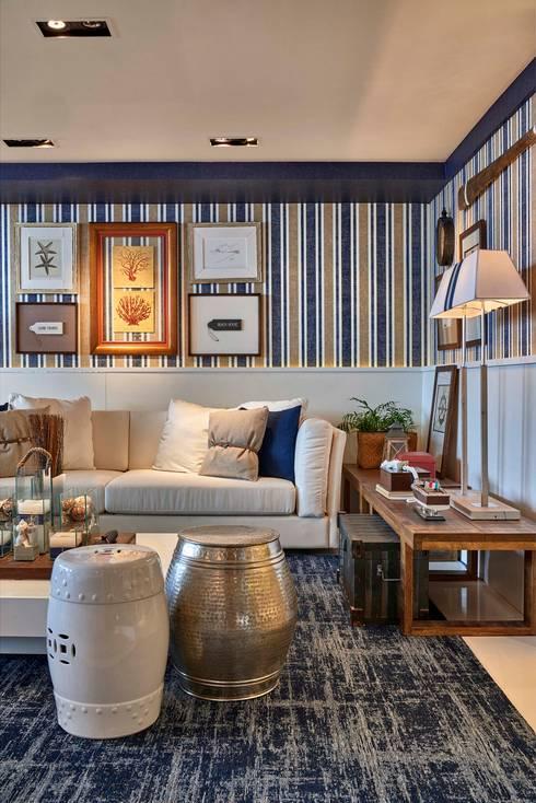 Decora Lider Rio de Janeiro – Living e Jantar na Praia: Salas de estar modernas por Lider Interiores