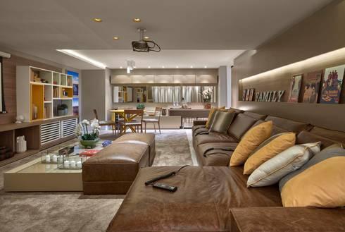 Decora Lider Rio de Janeiro - Home Theater: Salas de estar modernas por Lider Interiores