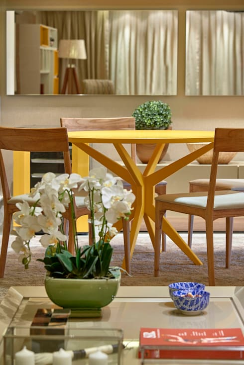 Decora Lider Rio de Janeiro – Home Theater: Salas de jantar modernas por Lider Interiores