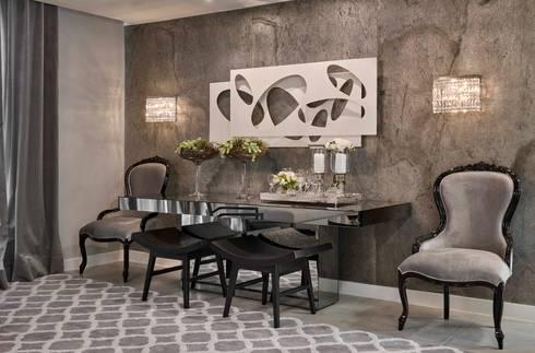 Decora Lider Salvador – Living urbano: Salas de jantar modernas por Lider Interiores