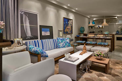 Decora Lider Salvador - Varanda gourmet : Salas de estar modernas por Lider Interiores