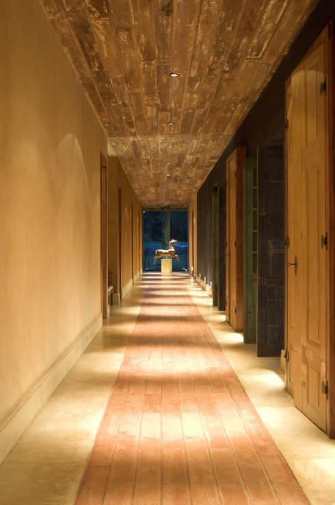 Pasillos y recibidores de estilo  por Mario Caetano e Eliane Pinheiro