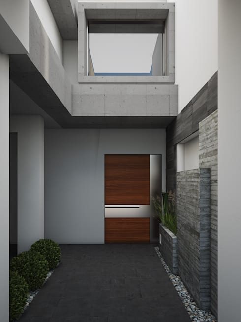 Area de Acceso A224: Casas de estilo moderno por Modulor Arquitectura