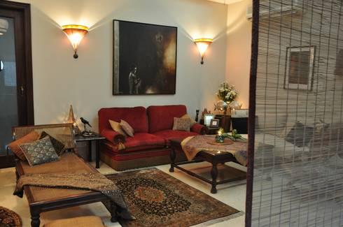 Apartment: modern Living room by monica khanna designs