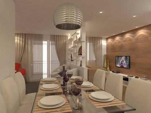 Sala de Jantar: Sala de jantar  por Danielle David Arquitetura