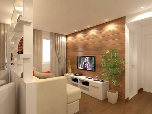 sala: Sala de estar  por Danielle David Arquitetura